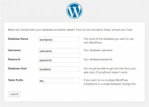 WordPress installatie proces - WordPress Website beveiliging