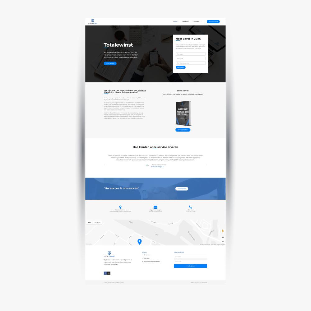 Totale winst - websitedesign